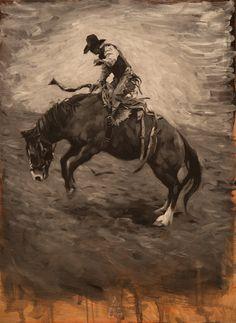 Bull rider 1. Oil on panel. 18×24 inches | Mark Maggiori