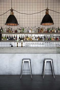 Swedish designer Richard Lindvall has recently transformed a parking garage near Stockholm into a restaurant and nightclub.