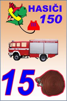 tísňová čísla | Hasiči města Kralovice - Soptíci School Bulletin Boards, Preschool Themes, Elementary Science, Firefighter, 2 In, Children, Kids, Classroom, Education