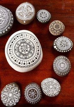 Mandala Pebbles by Maria Mercedes Trujillo A.