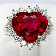 LOVE LOVE LOVE!!!  10 Carat Ruby Heart Sterling Ring
