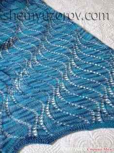 Large lace waves knitting stitch