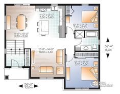 Détail du plan de Maison unifamiliale W3323-V1
