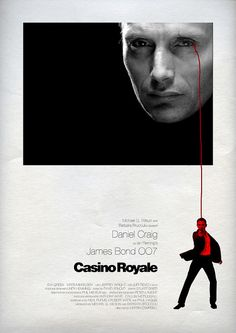 Casino Royale (2006) - Alternative Movie Poster by Owain Wilson ~ #alternativemovieposter #owainwilson #bondmoviesalternativeposters