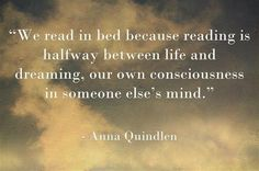 """we read in bed because..."""