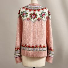 IRISH ROSE CARDIGAN The Effective Pictures We Offer You About Knitting quotes A quality picture can tell you many things. Fair Isle Knitting Patterns, Knitting Blogs, Sweater Knitting Patterns, Crochet Woman, Knit Crochet, Fair Isle Pullover, Vintage Knitting, Pulls, Knitwear