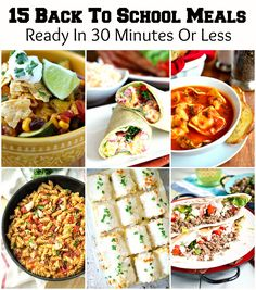 When it's time for the kids to go back to school, the lazy days of summer quickly fade away and a new routine begins. Take the stress out of weeknight dinner preparations with one of these mouthwatering meals you can make in 30 minutes or less. Scroll through the gallery for direct recipe links. About [...]
