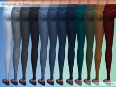 Skinny Jeans By Kliekie #Download #Sims4 #TS4 #MM #CC #MMCC #TS4MM #TS4Finds #CustomContent #Sims4CC #Clothing #Pants #Casual #Generic #Women #Female #Girls #Teenager #YoungAdult #Adult #Elder #Black #White #Grey