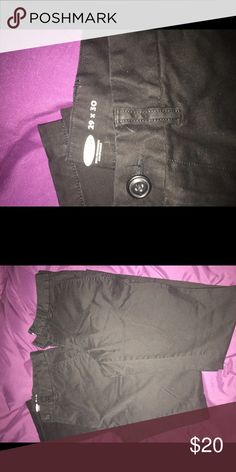 Men's black khakis Bought from told navy my son whore  1 time ...size in picture Pants Chinos & Khakis