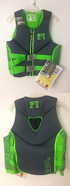 Life Jackets and Preservers 15262: Body Glove Mens Ski Vest Life Jacket Green And Gray Size Medium Nwt BUY IT NOW ONLY: $48.98