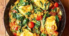 This light, simple salmon, spinach and tomato curry from Meera Sodha's brilliant Made in India cookbook is a perfect midweek meal.