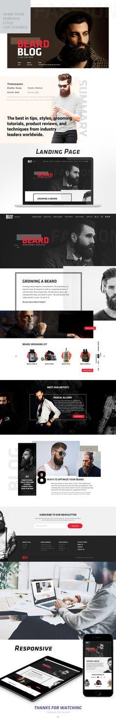 Landing Page Design for Beard Blog Club on Behance