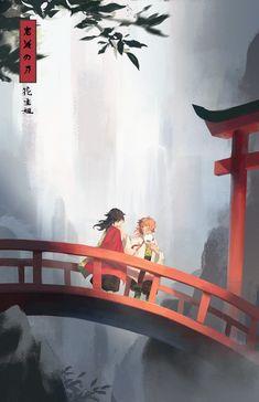 Anime Demon, Manga Anime, Anime Art, Wallpapers Wallpapers, Animes Wallpapers, Demon Slayer, Slayer Anime, Anime Scenery Wallpaper, Blue Exorcist