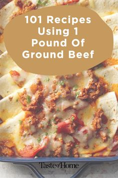 Here's what to do with a pound of ground beef so it never gets boring! Slow Cooked Meals, Taste Of Home, 1 Pound, Ground Beef Recipes, Recipe Using, Cheeseburger Chowder, Spice Things Up, Lasagna, Slow Cooker