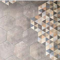 Carrelage hexagonal tomette décor 23x26.6cm BUSHMILLS - 0.504m²                                                                                                                                                      Plus