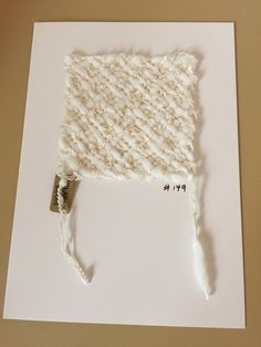 White on White hand weaving on a notecard, blank inside. Think wedding, graduation, birth or sympathy as the occasion for this hand made card.