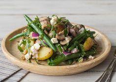 Mushroom, Fetta, & Chat Potato Medley