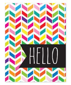 Another great find on #zulily! 'Hello' Bright Print #zulilyfinds