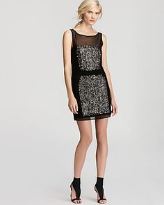 Milly Mesh Dress - Paillette | Bloomingdale's