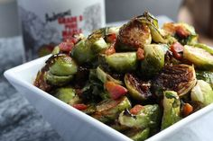 roasted maple syrup glazed brussels sprouts
