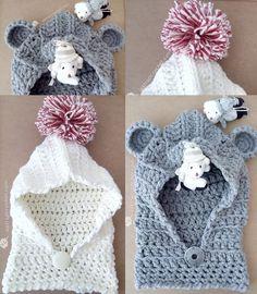 Crochet Baby Boy Hat, Crochet Dress Girl, Crochet Baby Jacket, Crochet For Kids, Free Crochet, Crochet Scarves, Crochet Clothes, Crochet Hats, Tricot Simple