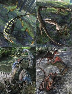 Prehistoric Predator Poses in Vendor, Digiport,  3D Models by Daz 3D