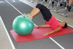Jen's Swiss ball trifecta strengthens your core and hamstrings, which help prevent ACL injuries. Bicycle Girl, How To Run Faster, Skiing, Seasons, Running, Workout, Fitness, Sexy, Sports