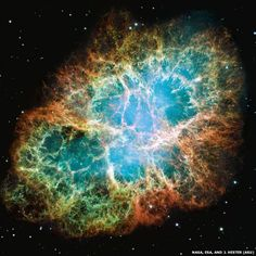 The M1 Crab Nebula as seen by the Hubble Space Telescope which was launched April, 1990, 25 years ago. The beautiful, opal-like nebula - which is 2.0 kiloparsecs, or 6,500 lightyears, or 61,494,748,071,775,210 kilometers, from Earth - is the gigantic remnant of a supernova event observed by Chinese astronomers in CE 1054. (Endless Seas)
