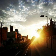 #rainbow #chacarita #train #tren #rumboawilliammorris #cremadelcielo #cielo #sky #bluesky #instagrammers #picoftheday #fotodeldia #travel #daylife #buenosaires #argentina #provinciadebuenosaires #station #joinnow #flipeamers #pinterestmers #flickermers
