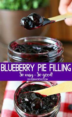 Homemade Blueberry Pie, Blueberry Desserts, Homemade Pie, Köstliche Desserts, Delicious Desserts, Blueberry Sauce, Best Blueberry Pie Filling Recipe, Blueberry Pie Fillings, Blueberry Topping For Cheesecake