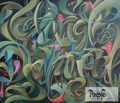 """Dschungel"" Acryl auf Leinwand, 70 x 60 cm, Preis auf Anfrage"