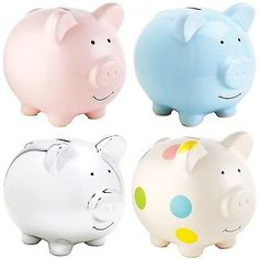 #Pearhead extra #large ceramic piggy bank money box pig #moneybox four colours ne, View more on the LINK: http://www.zeppy.io/product/gb/2/121820697802/