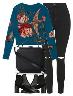 """Untitled #3826"" by london-wanderlust ❤ liked on Polyvore featuring Topshop, Gucci, Aspinal of London and See by Chloé"