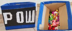 Birthday Mario Bros decorations - Pow box. Cumpleaños infantiles de Mario y Bowser, caja para sorpresas o piñata diy Yoshi, Mario Y Luigi, Pow, O Pokemon, Toy Chest, Storage Chest, Home Decor, Gluten Free Treats, Decorated Cakes