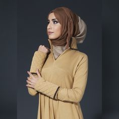 Winter Warmers - Camel & Creamy Latte Silk Chiffon Hijab. Available at www.aabcollection.com #AabCollection #OctoberEdit #Abaya #Hijab #Style #Fashion