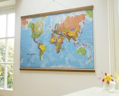 19 Best World Wall Maps images