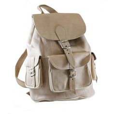 Mochila de cuero crema Leather Backpack, Backpacks, Bags, School, Outfits, Ideas, Satchel Handbags, Purses, Zapatos