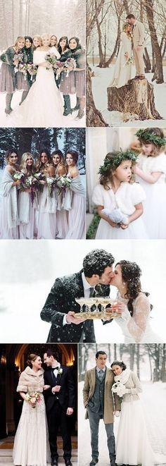 unique wedding photos for winter wedding ideas