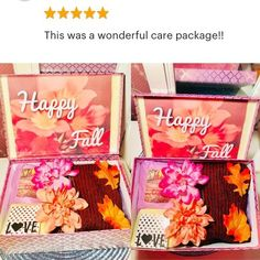 Get Well Care Package. Fall Care Package, Fall Dates, 21st Birthday Gifts, Happy Fall, Fall Crafts, School Ideas, Back To School, Personalized Gifts, Gifts For Her