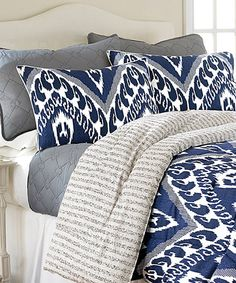 reversible lydia comforter set by colonial home textiles zulily zulilyfinds navy blue comforter setsbedding