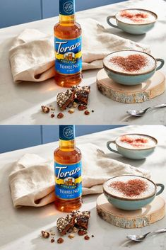 Get the same buttery sweet taste you love without the sugar- NEW Torani Sugar-Free Toffee Nut is now available! This sugar free toffee nut cappuccino recipe is the perfect fall coffee recipe to make at home. Check out our full cappuccino recipe here!