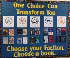 Divergent Display.  Choose your Faction.  Choose a book.