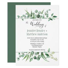 Eucalyptus Envy Framed Wedding Invitation