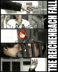 Sherlock art - The Reichenbach Fall -op Just saw the episode. I think I lost my mind for a short while! Now I understand what all the excitement is about!!
