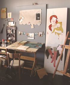 The studio of Rebecca Green~Image © Rebecca Green