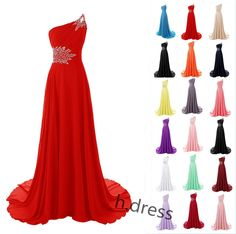 Awesome One Shoulder Long Chiffon Bridesmaid Formal Ball Gown Party Evening Prom Dresses Prom Dresses Check more at http://myclothestrend.com/product/one-shoulder-long-chiffon-bridesmaid-formal-ball-gown-party-evening-prom-dresses-prom-dresses/