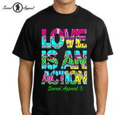 "We're officially releasing our ""Love Is An Action"" shirt on Monday August 19th. #LOVEISANACTION #SACREDAPPAREL"