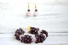Mrs_Leyla / Sada šperkov z minerálov - Náramok a Náušnice Drop Earrings, Jewelry, Fashion, Moda, Jewlery, Jewerly, Fashion Styles, Schmuck, Drop Earring