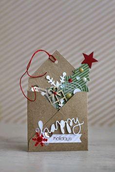 Ideas Gift Cars Ideas For Christmas Christmas Tags Handmade, Handmade Gift Tags, Christmas Scrapbook, Christmas Cards To Make, Christmas Gift Wrapping, Christmas Paper, Xmas Cards, Christmas Projects, Christmas Time