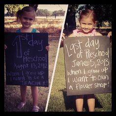 Cool idea for when jamie starts kindergarten.